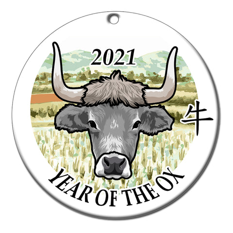 Chinese Zodiac Year of the Ox Ornament (2021)