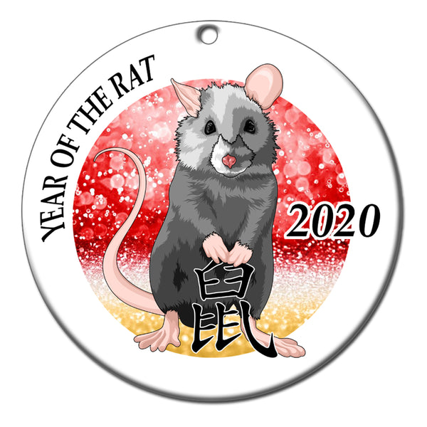 Chinese Zodiac Year of the Rat Ornament (2020)