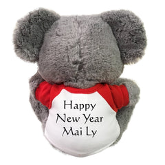 "Chinese Zodiac Year of the Rat 2020 Stuffed Animal - 10"" Scurry Mouse, example of back printing"
