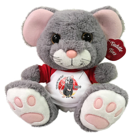 "Chinese Zodiac Year of the Rat 2020 Stuffed Animal - 10"" Scurry Mouse"