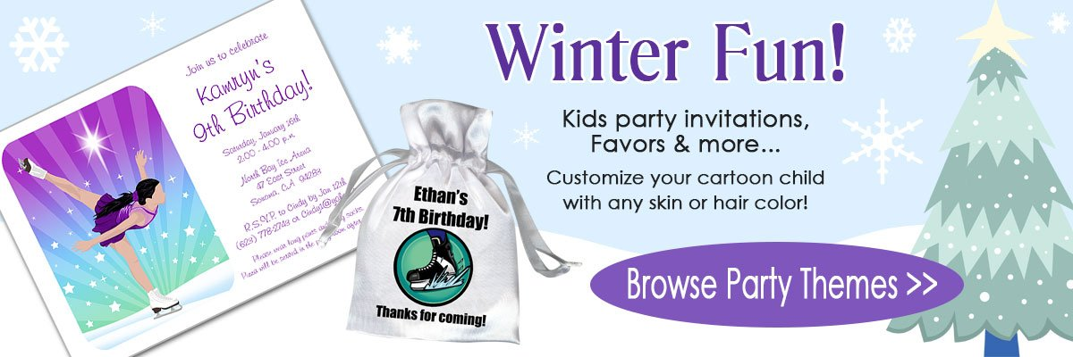 Kids Birthday Invitations and Favors
