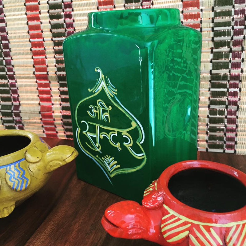 Single Handpainted Jar - ATI SUNDAR