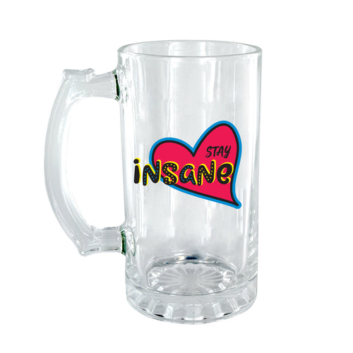 Insane Clear Beer Mug