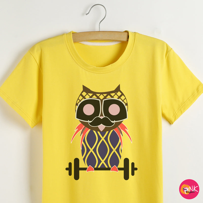 Moustachy Owl T- Shirt