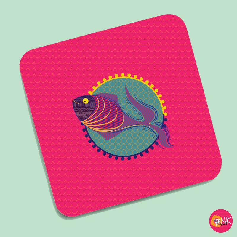 The Pretty Fish Pink Coasters