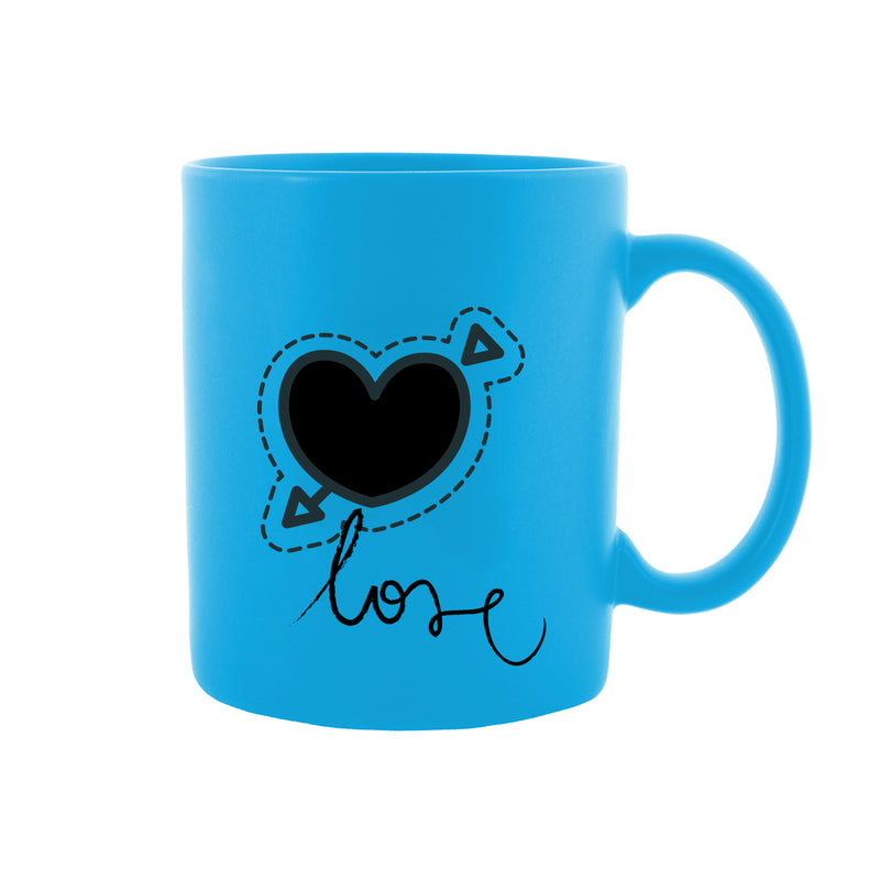 Heart in Love Blue Mug
