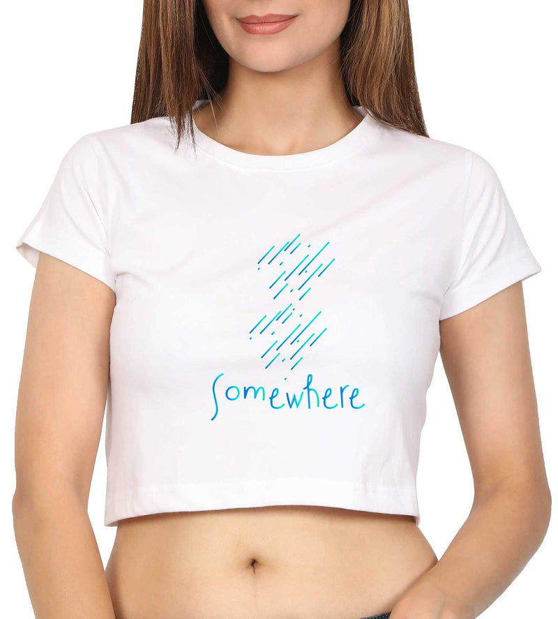 Somewhere Crop Top