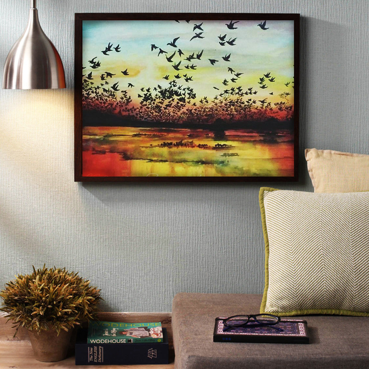 The Sunset Charm - 24 x 18 Inch Canvas – Pink Magnet
