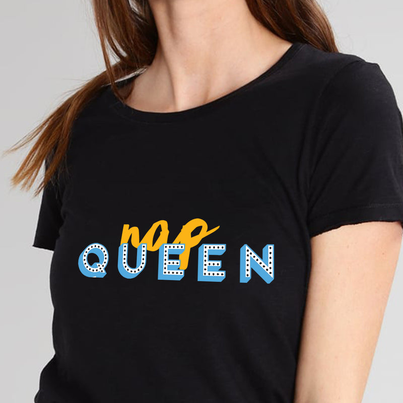 Nap Queen Black T- Shirt