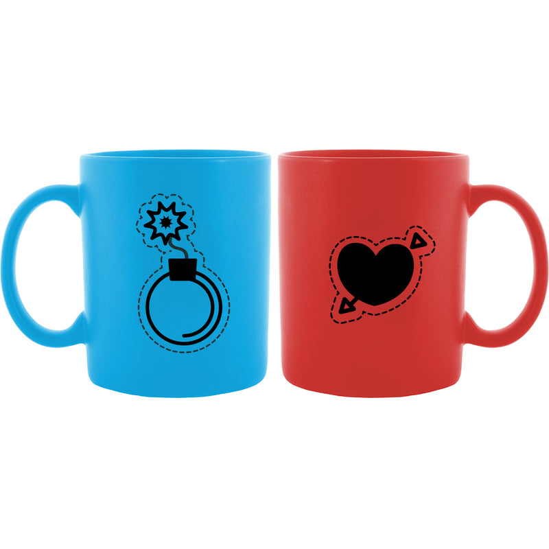 Heart in Love Couple Mug - Set of 2