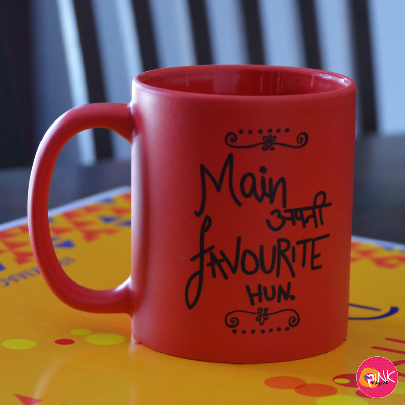 Main Apni Favorite Hun Red Mug