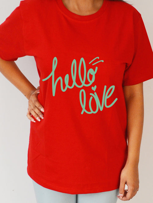 Hello Love #2 Red Premium T- Shirt