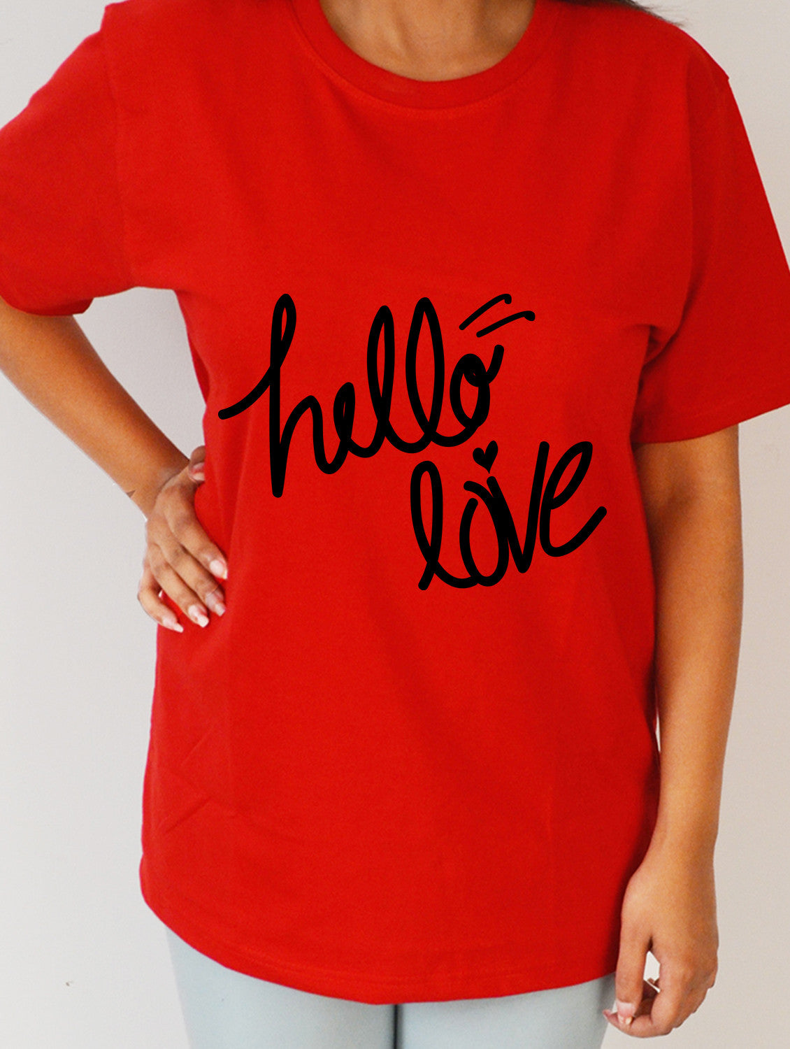 Hello Love #3 Red Premium T  Shirt