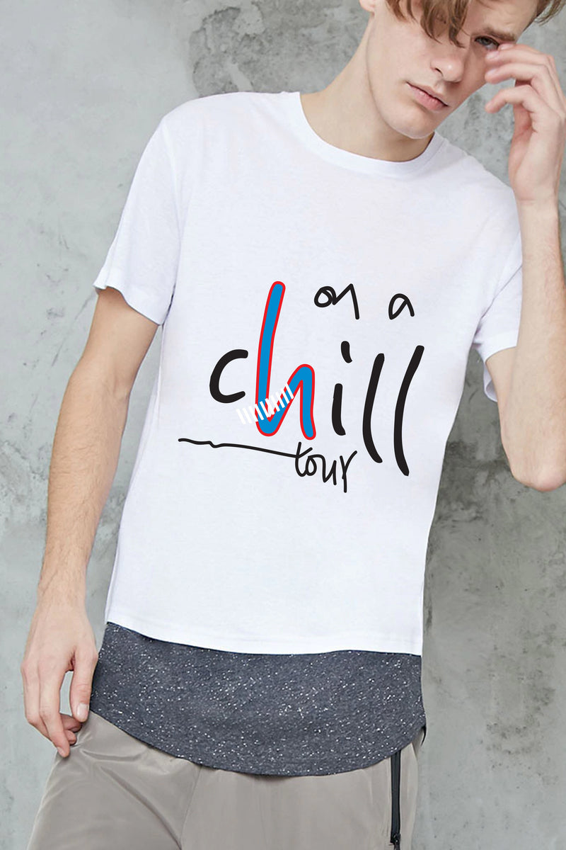 On a Chill Tour Round Neck T-shirt