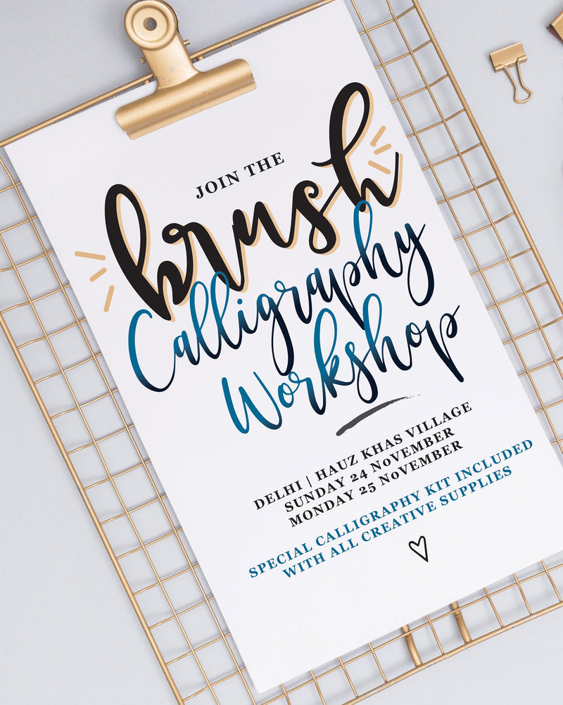 Calligraphy Workshop November 25, 2019, Delhi