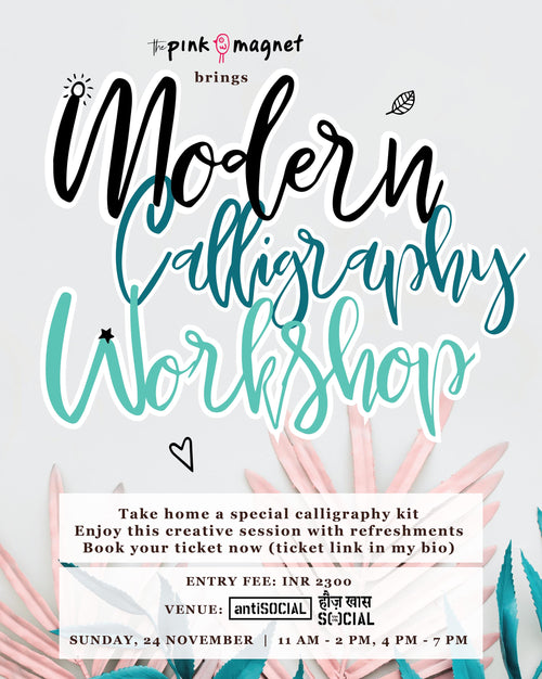 Calligraphy Workshop November 24, 2019, Delhi