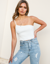 Devoted Crop Top (White)