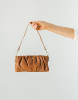 Ryder Bag by Peta + Jain (Tan) - Pleated Tan Shoulder Bag - Women's Bag - Charcoal Clothing