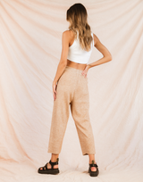San Diego Pants (Tan) - High Waisted Sweat Pants - Women's Pants - Charcoal Clothing