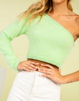 Atlanta Crop Top (Lime)