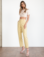Amber Pants - Yellow Business Pants - Women's Pants - Charcoal Clothing