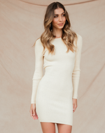 Lily Mini Dress (Beige)