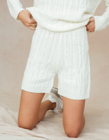 Austin Knit Shorts - Cream Bottoms-Charcoal Clothing-Women's-Shorts