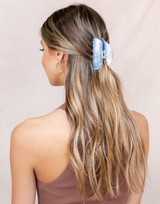 The Cindy Hair Clip (Stone Blue) - Blue Clip - Women's Hair - Charcoal Clothing