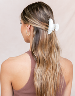 The Poppy Hair Clip (White) - White Pearl-Look Hair Claw - Women's Hair - Charcoal Clothing
