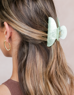 The Poppy Hair Clip (Mint Green) - Mint Green Pearl-Look Hair Claw - Women's Hair - Charcoal Clothing