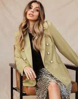 Kendall Jacket (Olive) - Olive Green Blazer-Charcoal Clothing-Women's-Blazer