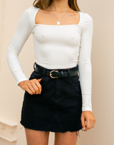 Tightrope Crop Top (White)