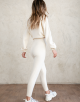 Karlie Pants - Cream Knit Bottoms - Women's Pants - Charcoal Clothing