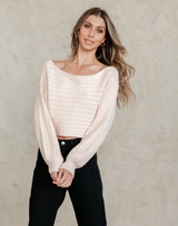 Jules Knit Top - Pink Knit Top - Women's Top - Charcoal Clothing