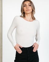 Willa Top (Cream) - Neutral Skivvy - Women's Top - Charcoal Clothing