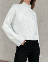 Charley Knit Jumper - Grey Sweater - Women's Top - Charcoal Clothing