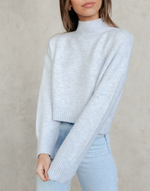 Charley Knit Jumper -Blue Sweater - Women's Top - Charcoal Clothing