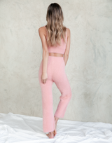 Constance Crop Top - Fluffy Pink Neutral Crop - Women's Top - Charcoal Clothing