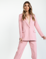 Amber Blazer - Pink Business Jacket - Women's Blazer - Charcoal Clothing