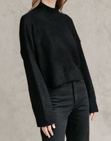 Charley Knit Jumper - Black Sweater - Women's Top - Charcoal Clothing