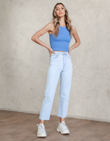 Kaya Jeans - Light Blue Wash Denim Jeans - Women's Pants - Charcoal Clothing