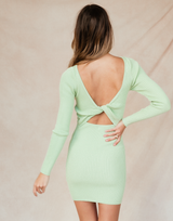 Lily Mini Dress - Sage Green Bodycon-Charcoal Clothing-Women's-Dress