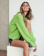 Kamryn Knit Top - Green Cardigan - Women's Top - Charcoal Clothing