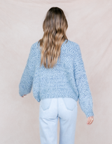 Sundream Knit Jumper - Blue Sweater - Women's Top - Charcoal Clothing