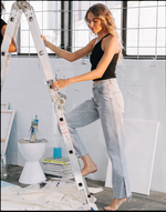 Elle Top - White Blouse - Women's Top - Charcoal Clothing
