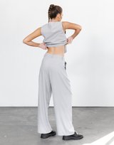 Wickham Crop Top - White Ribbed Crop Top - Women's Top - Charcoal Clothing
