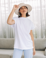 Day One Shirt - White Short Sleeve Shirt - Women's Top - Charcoal Clothing