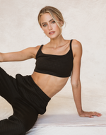 Charlie Crop Top (Black) - Basic Black Crop Top - Women's Top - Charcoal Clothing