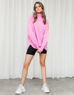 Sunday Morning Knit (Pink) - Pink Knit Jumper - Women's Top - Charcoal Clothing