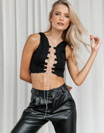 Crazy In Love Crop Top - Black and White Crop Top - Women's Top - Charcoal Clothing